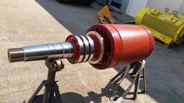 Reparatie motor 220KW SIEMENS 500V 580rpm